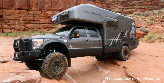 EarthRoamer vehicle with lifeline deep cycle rv battery