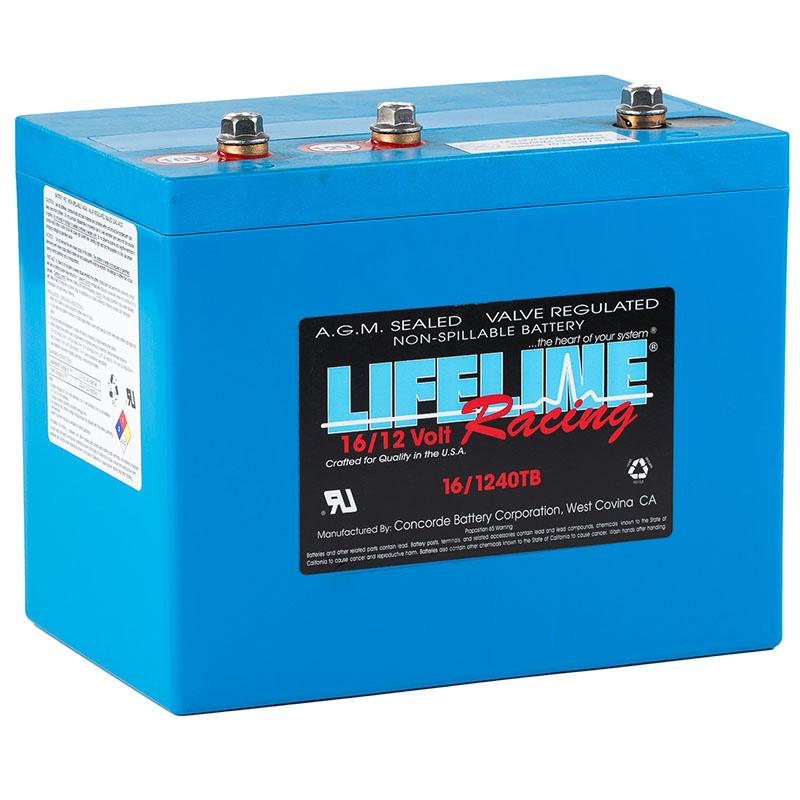 Lifeline 16-1240TB Race Car battery
