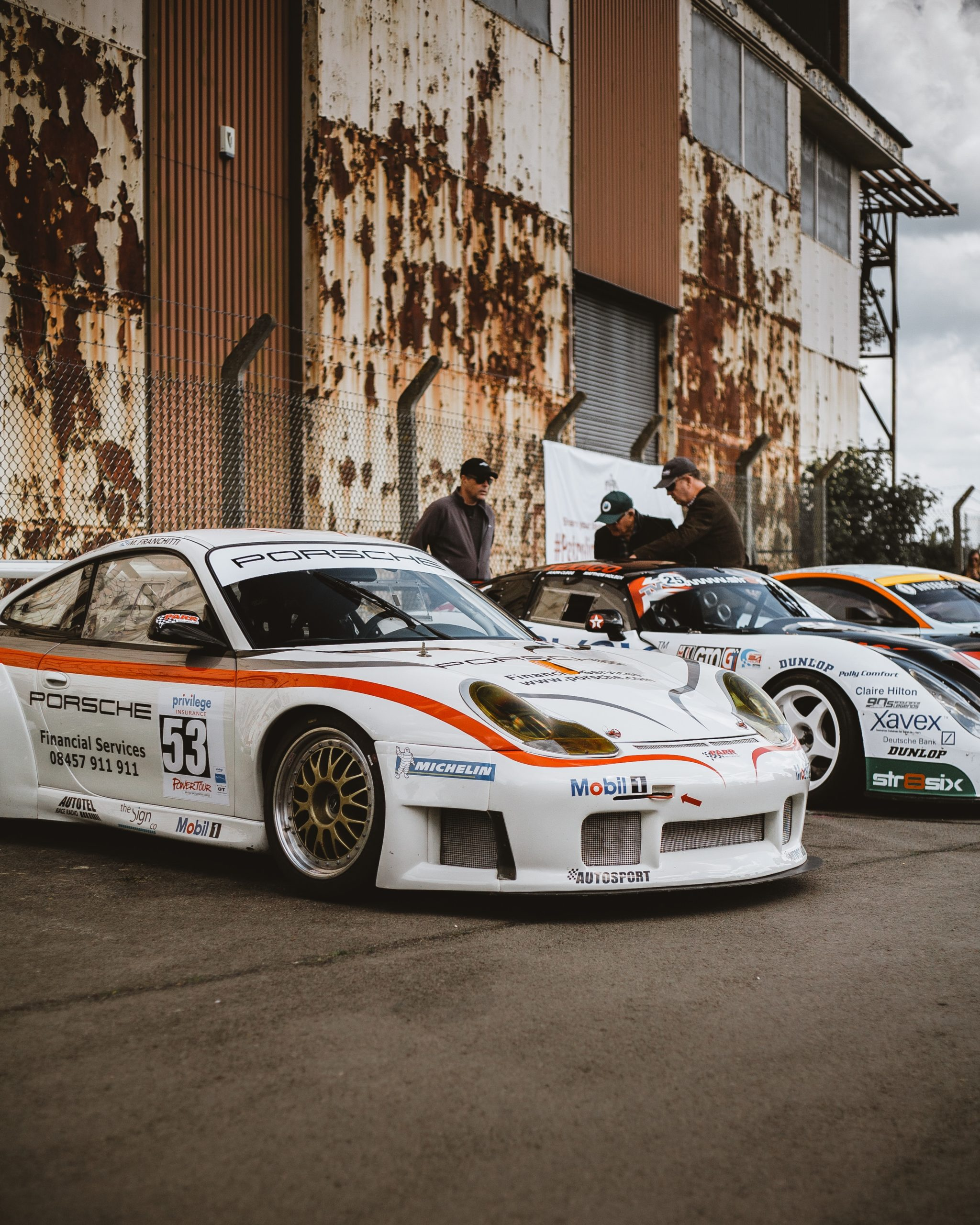 Parked Race Cars