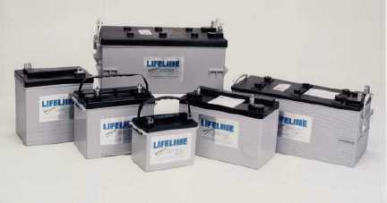 Lifeline AGM batteries Group shot